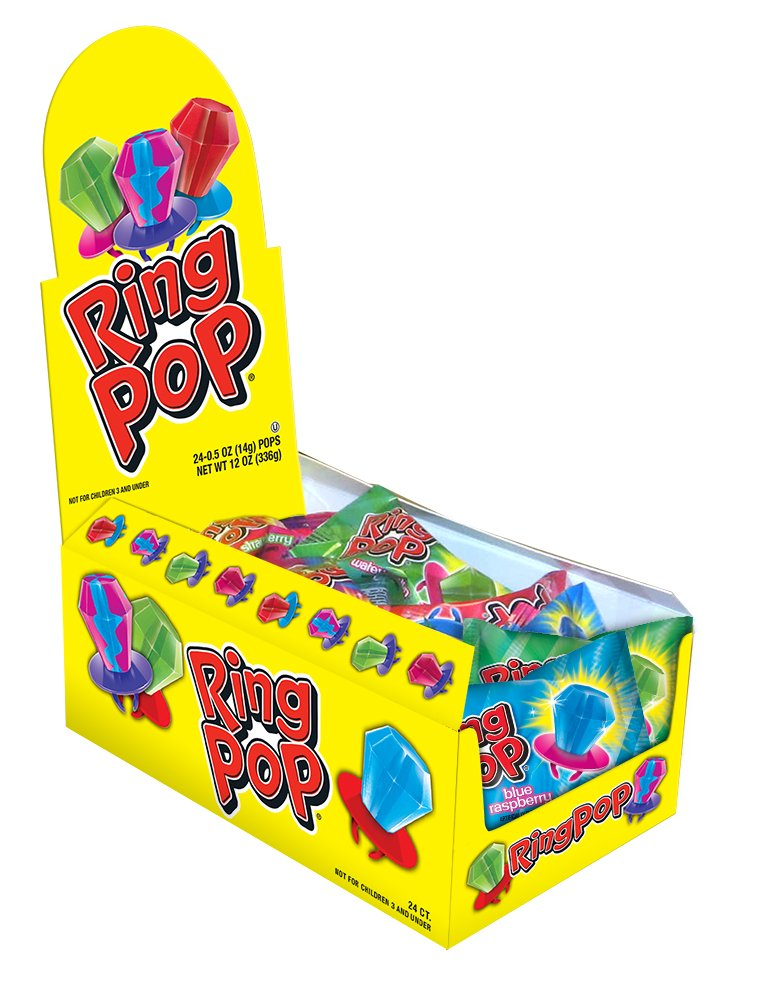 Ring POP Individually Wrapped Bulk Variety Halloween Party Pack Candy Lollipop Suckers W/ Assorted Flavors 24 Count (Pack of 1) by Ring Pop