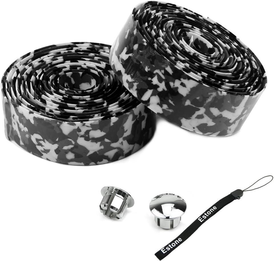 1Pair Bike Tape Bicycle Bar Wrap Cork Handlebar Ribbon with 2 Bar Plugs Hot