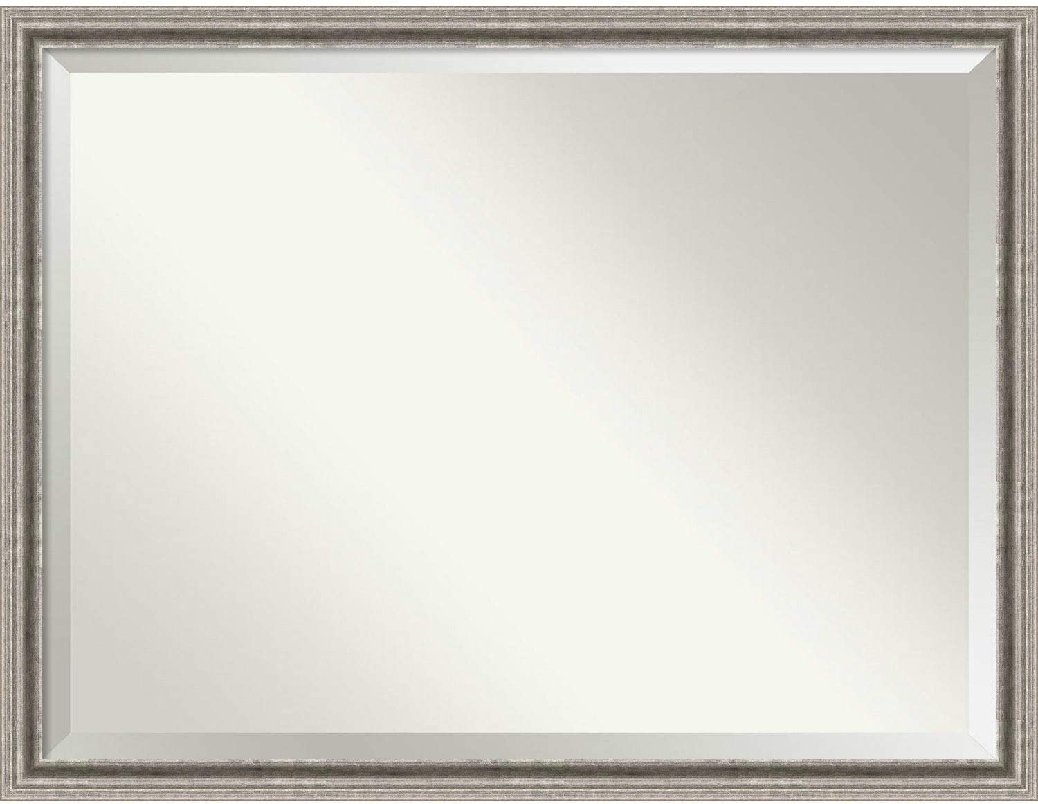 Amazon Com Wall Mirror Oversize Large Bel Volto Silver 43 X 33 Inch Silver Black Oversize Large Modern Contemporary Traditional Beveled Glass Includes Hardware Home Kitchen
