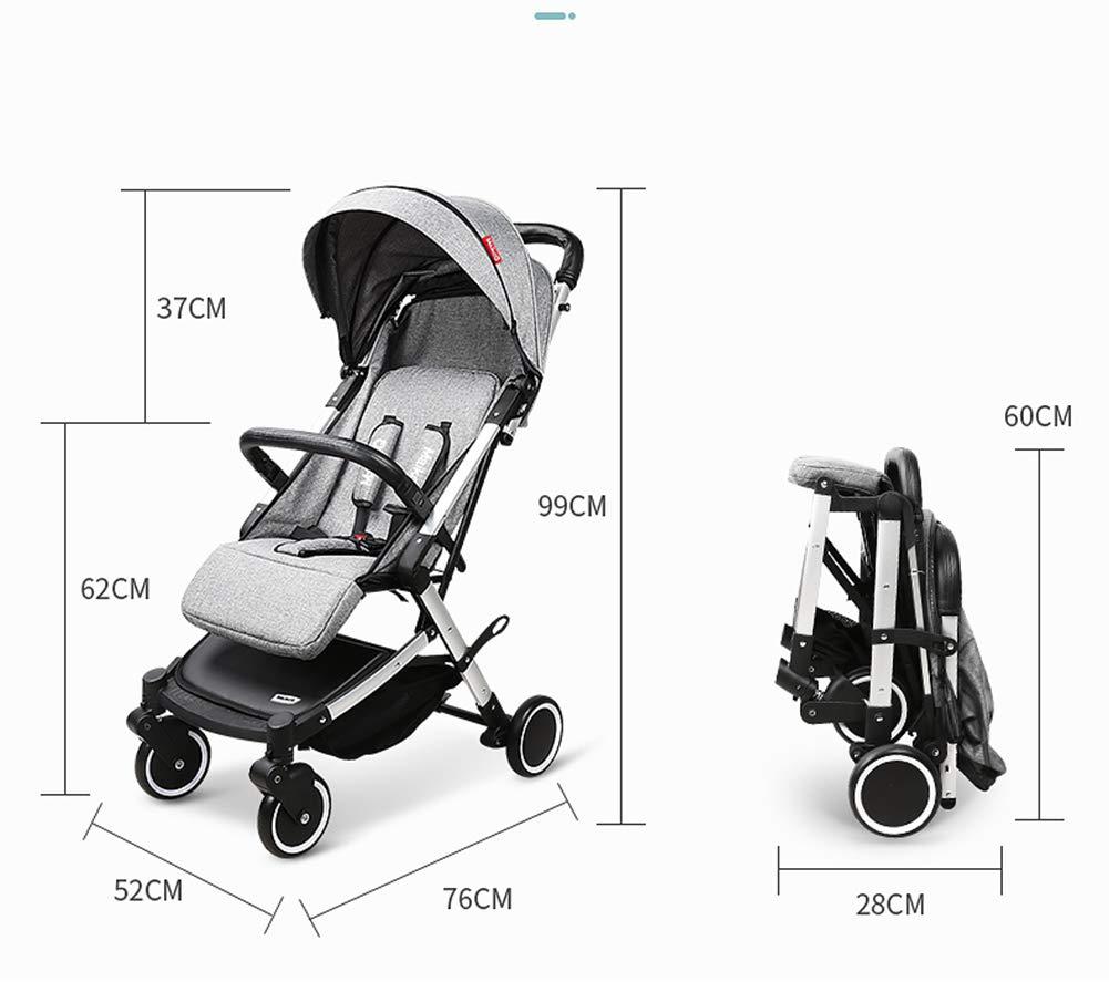 QZX Silla de Paseo Cochecito de bebé Plegable Sistema de Viaje de Cochecito Compacto y Ligero Aplicable de 1 a 3 años de Edad,Blue: Amazon.es: Deportes y ...