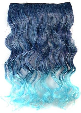 Peluca femenina de una pieza, pelo largo y rizado, gran onda ...