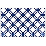 CounterArt 24-Pack Disposable Paper Placemats, Blue Geometric Print