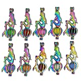 Bruin 10pcs Multicolor Sit Mermaid Pearls Cages Locket Pendant Add Bead Stones Perfume Essential Oils Scent Diffuser Necklace Charms