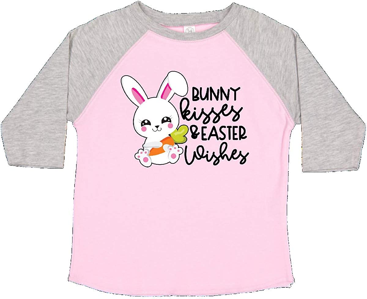 inktastic Easter Bunny Kisses and Easter Wishes in Pink Toddler T-Shirt