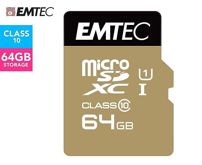 Emtec microSD Class10 Gold+ 64GB Memoria Flash MicroSDXC Clase 10 ...