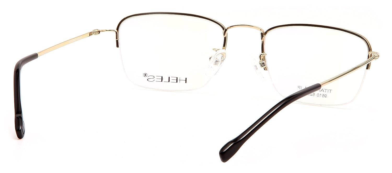 Amazon.com: Heles Unisex moda puro Tianium de media montura ...
