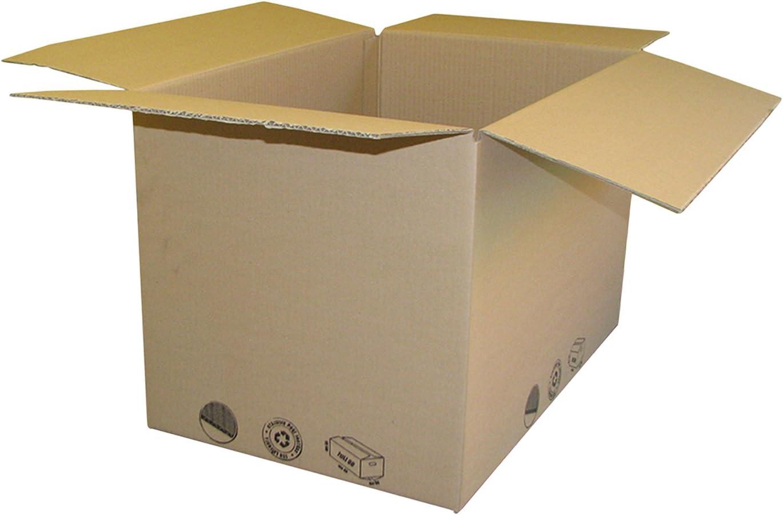 Caja de cartón Mono onda cm 40 x 35 x 20 conf. 10 unidades): Amazon.es: Bricolaje y herramientas