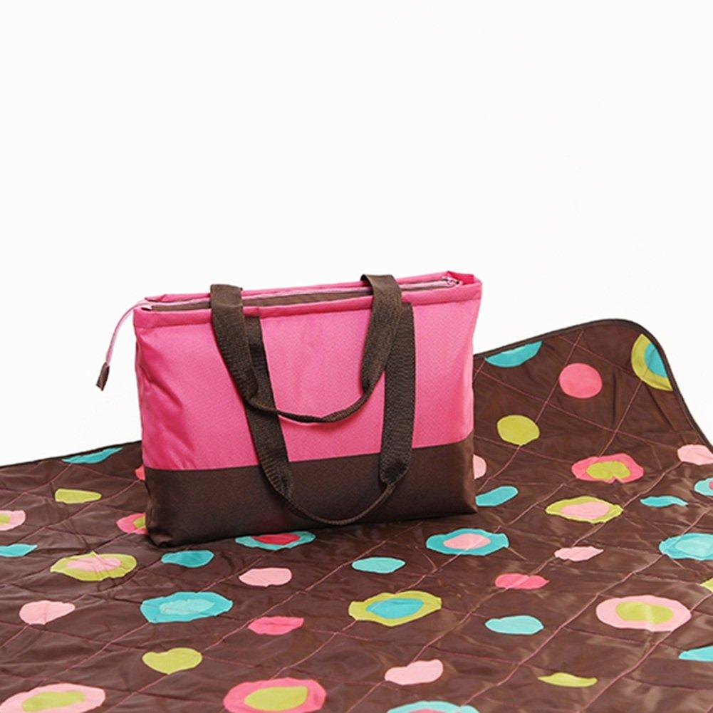 Tappetino da Picnic All'aperto Addensare Tessuti di taffettà Pieghevole Panno di Terra Coperta da Viaggio Impermeabile 150  200 cm (colore   Style4)