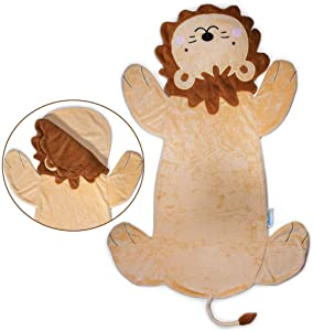 Cozy Lion Animal Tail Blanket for Kids Soft and Comfortable Kids Sleeping Bag Sleep Sacks Blankets for Movie Night, Sleepovers, Camping and More – Fits Boys and Girls Ages 3-13 Years