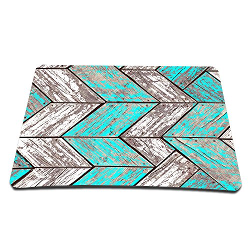 Price comparison product image Elonbo TM 8.6 x 7 inches / 220 x 180 mm Wood Stripe Design Waterproof Neoprene Soft Mouse Pad