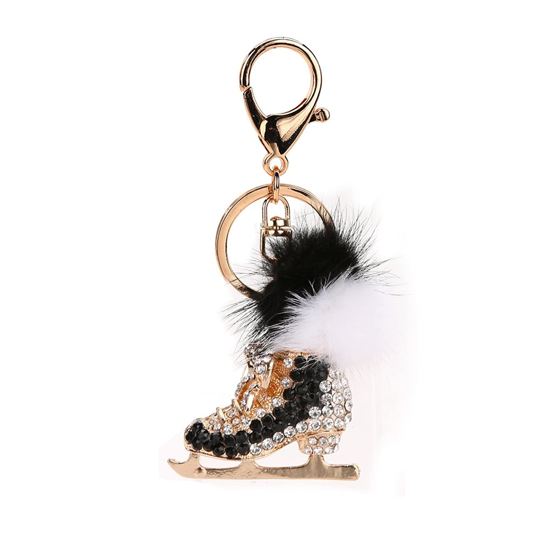 Jocestyle Womens Rhinestone Key Ring Keychain Keyrings Handbag Bag Purse Car Pendant