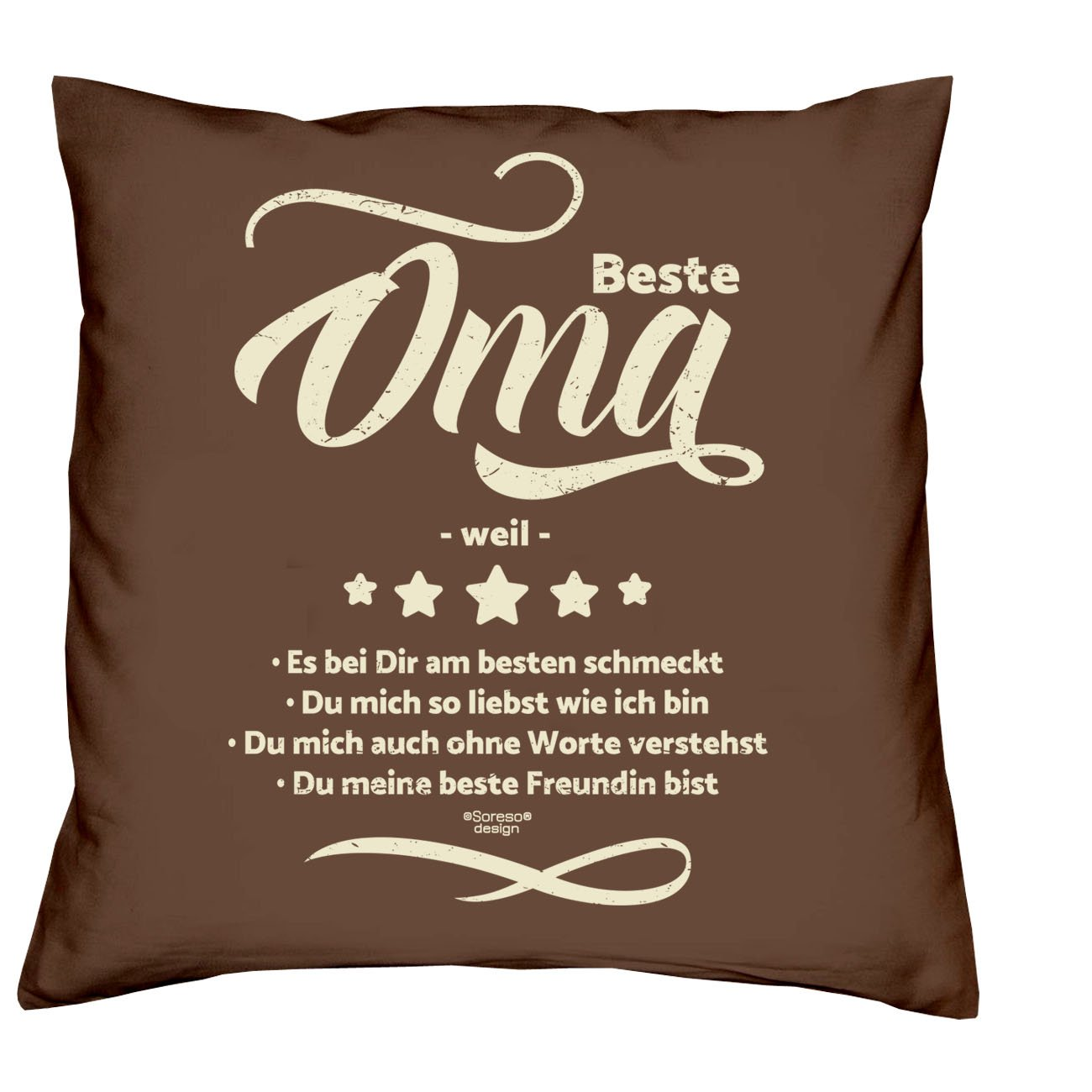 Soreso Design Oma & Opa -:- 2 Kissen inklusive Füllung -:- 2 ...
