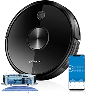 Ultenic D5 Robot Vacuum Cleaner, Wi-Fi & Alexa Control, 2200Pa Max Suction, Super-Thin, 500ML Large Dustbox, Self-Charging Robotic Vacuum Cleaner, Boundary Strips, for Pet Hair Carpets Hard Floor