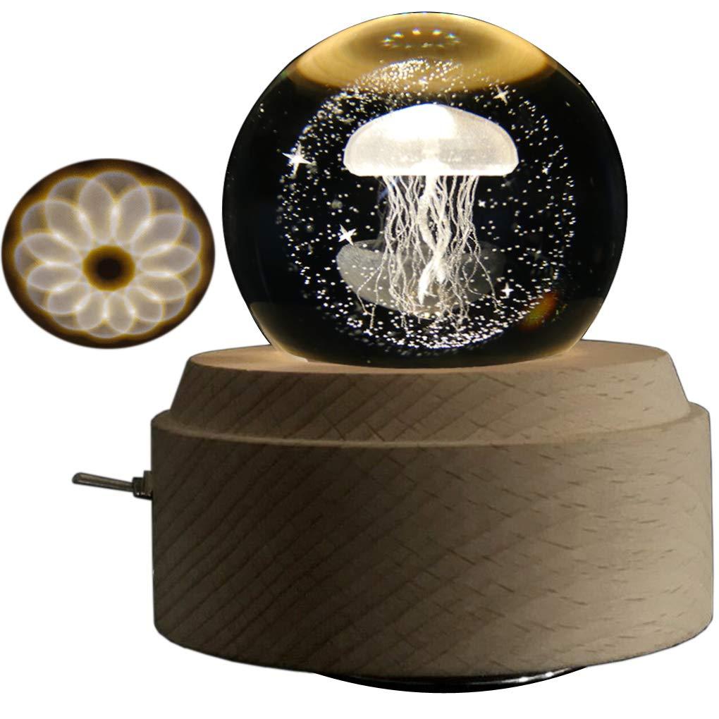 超人気新品 Amperer 8# 3Dクリスタルボールオルゴール タンポポポ 発光回転オルゴール B07MYZVDJ4 投影LEDライトと木製ベース 誕生日やクリスマスのギフトに最適 (6#タンポ) (6#タンポ) B07MYZVDJ4 8# Jellyfish, C-TRUST:a68b857b --- arianechie.dominiotemporario.com