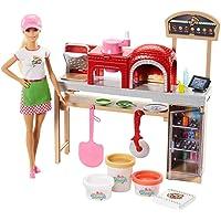 Barbie - (Mattel Fhr09) Pizza Yapıyor Oyun Seti