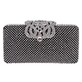 Fawziya Crown Purses And Handbags Evening Bags And Clutches-Black