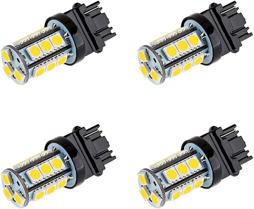 Makergroup S8 3156 Wedge Base LED Light Bulb 12V Low Voltage 3Watt Warm White 2700K-3000K for Outdoor Landscape Lighting and RV Vehicle Automotive Lights 4-Pack