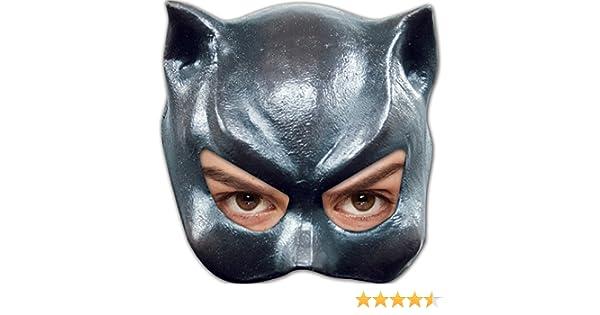 Cat Girl Woman Half Face Mask Latex Fancy Dress Halloween Adult One Size