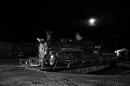 Amazon com: 8 x 12 Black White Photo Steam Locomotive Coal