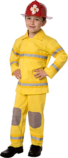 Amazon.com: Fireman Traje de rescate clásico para niño: Clothing