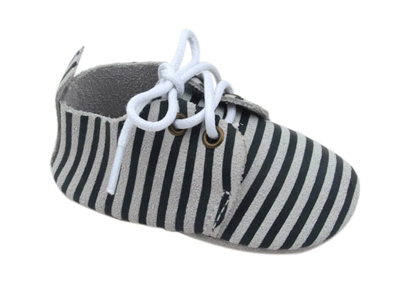 Unique Baby Unisex-Baby Striped Oxford Shoes SOX-1