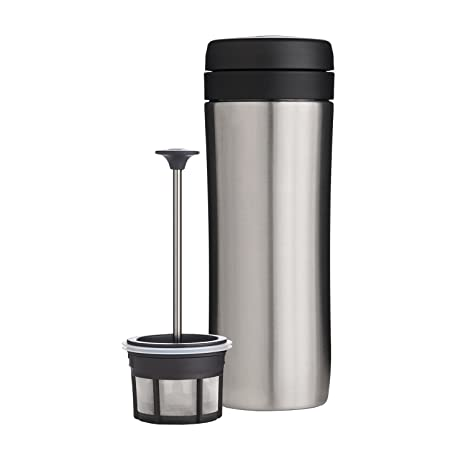 61202b1dd98 Amazon.com: Espro Travel Coffee Press, Stainless Steel, 12 oz (Stainless):  Kitchen & Dining
