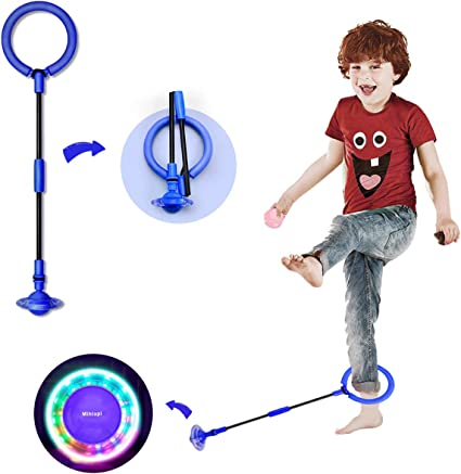 Fitness Fat Burning Jump Rope Game for Adults and Children Colorful Fitness Jump Sports Swing Ball GDMEET Skip Ball for Kids Foldable Ankle Skip Ball
