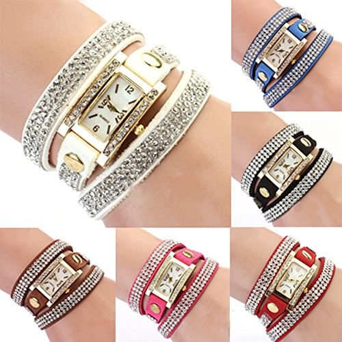 Womens-Vintage-Square-Dial-Rhinestone-Weave-Wrap-Leather-Bracelet-Wrist-Watch