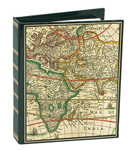 Caspari Entertaining with Loose-Leaf Address Book, World Map, 1 Count