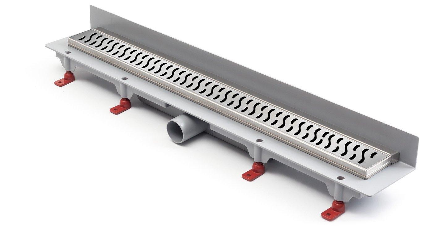 - Canaleta para desagüe de ducha acero inoxidable - Desagüe para plano 75 cm, modelo: Harmony de montaje en pared: Amazon.es: Bricolaje y herramientas