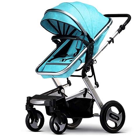 QZX Cochecito 2 en 1 Sistema de Viaje Newborn Buggy con Amortiguadores Cochecito reclinable para bebés. Pasa ...