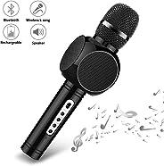 Wireless Bluetooth Karaoke Microphone,YKSINX 4-in-1 Speaker, Recorder,Voice Changer, Karaoke Microphone Wireless Speaker Kar