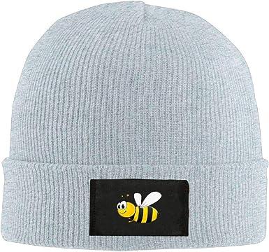 Men Women Cute Bee Skull Hat Beanie Cap Winter Knit Hat Cap