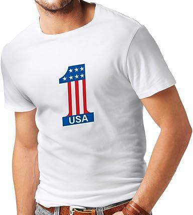 lepni.me N4074 Camiseta USA N1: Amazon.es: Ropa y accesorios