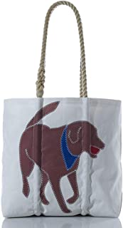 product image for Sea Bags Recycled Sail Cloth Chocolate Lab Tote Medium