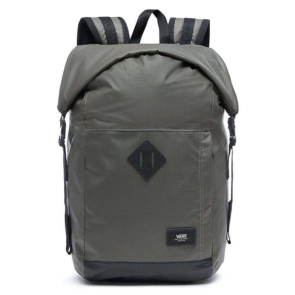 98ef9e4e58 Vans Fend Roll Top Backpack Casual Daypack, 44 cm, 21 L, Black:  Amazon.co.uk: Luggage