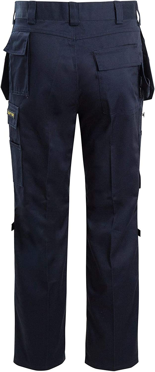 shelikes Mens Combat Cargo Pants Quality Knee Pad Pockets Hard Wearing Work Trousers 30-50