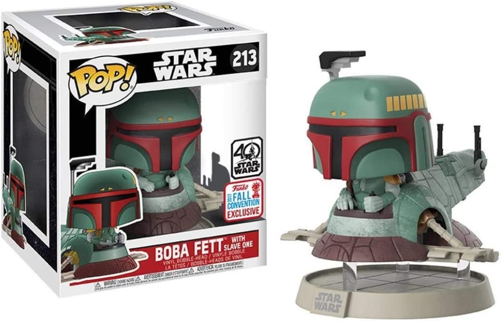 vinyl Star Wars Boba Fett avec Slave One 1 NYCC 2017 #213 Exclusive Funko Pop