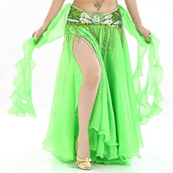 YLBHXC Baile Profesional Royal Blue Belly Danza Faldas Doble ...