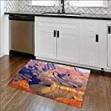 Soft Non Slip Absorbent Bath Rugs Epic South West Canyon Before Sunrise Tribal Ethnic National Landmark Wilderness Brown Machine Washable Large Mats Materials