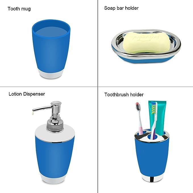 Amazon.com: Juego de accesorios de baño.: Home & Kitchen