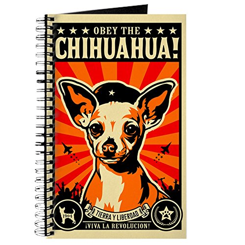(CafePress Chihuahua Revolutionary Dog Journal Spiral Bound Journal Notebook, Personal Diary, Lined)