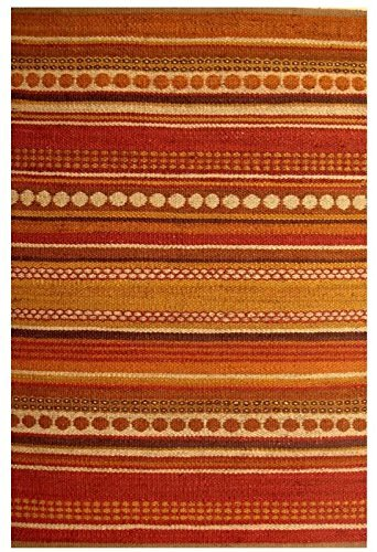 Acura Rugs Natural Jute Diane Collection Area Rug, Hand Woven Jute Rug 6' x 9' Feet / 72