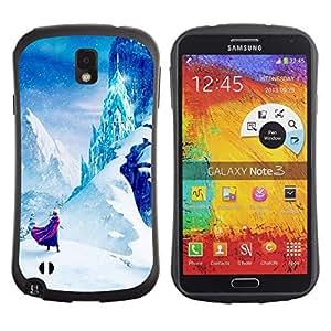 """Hypernova Slim Fit Dual Barniz Protector Caso Case Funda Para Samsung Note 3 [Cuento de hadas de Montaña Niños Niños""""]"""