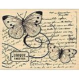Florilèges Design FH114007 Tampon Scrapbooking Vol de Papillons Beige 10 x 13 x 2,5 cm