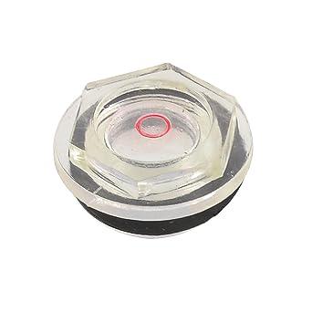 24 mm macho diámetro de rosca de nivel de aceite compresor de aire mira transparente negro