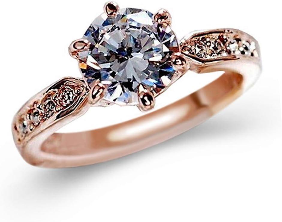 Elegant Diamond Engagement Wedding Ring Bridal Rings Couples Ridkodg Promise Rings for Her