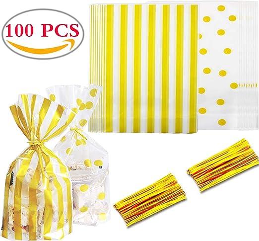 100PCS Bolsas Regalo Cumpleaños Liuer Bolsas de Plástico Dulce ...