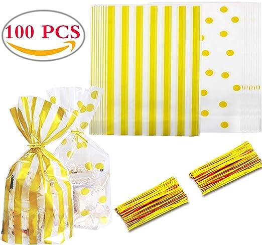 100PCS Bolsas Regalo Cumpleaños Liuer Bolsas de Plástico ...