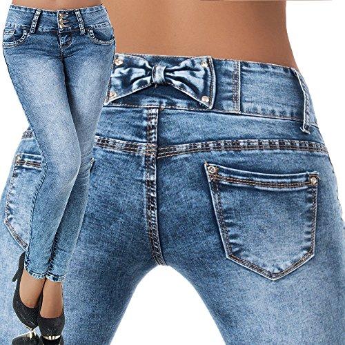 FASHION BOUTIK jeans bleu délavé avec noeud dos femme sexy tendance fashion